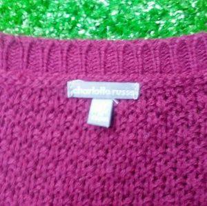 Charlotte Russe Sweaters - Charlotte Russe cross strap sweater sizeM
